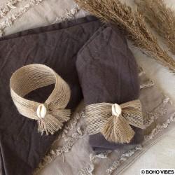 Ronds de serviette coquillage