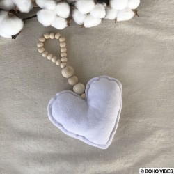 Décoration cœur et perles
