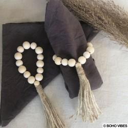 Ronds de serviette perles