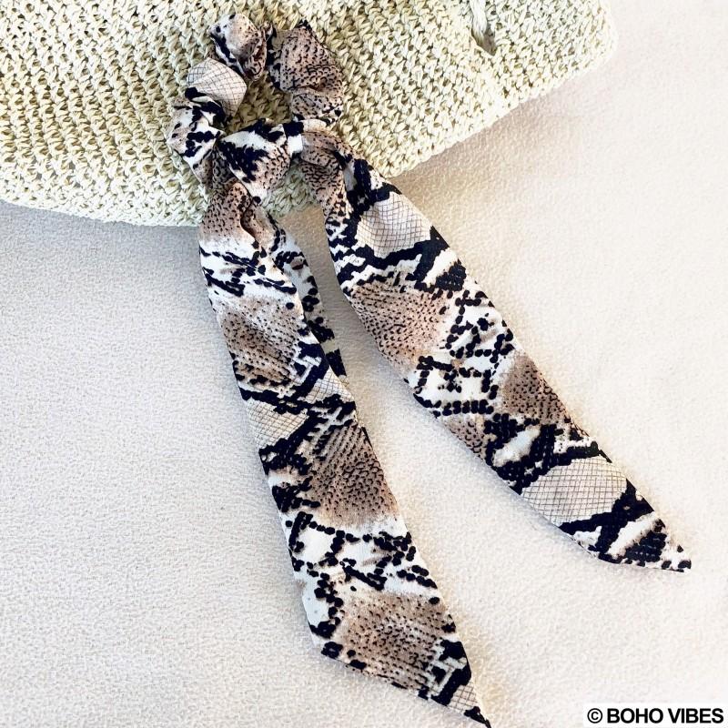prix d'usine hot-vente authentique acheter authentique Chouchou foulard imprimés python